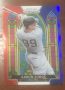 2021 Panini Prizm Stained Glass Red White Blue Aaron Judge Yankees