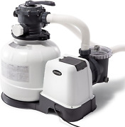 Intex 26647eg Krystal Clear Sand Filter Pump For Above Ground Pools 14-inch