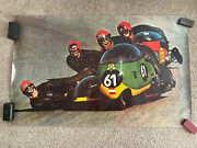 Vintage Rare Cycle World Motorcycle Posters 48x30 Bike Poster