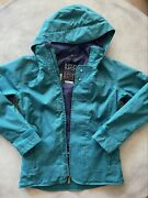 Burton Dryride Ski Snowboard Hooded Winter Jacket Womenand039s Size Xs Teal Buttons