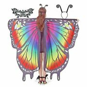 Butterfly Wings Halloween Costumes Butterfly Lace Mask+insect Antenna Headband