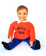 Vintage Willie Talk 21andrdquo Ventriloquist Doll For Boys And Girls Horseman 1960andrsquos