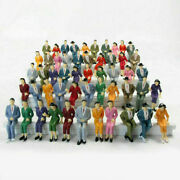 P2526 50 Pcs. G Scale Figures Model Train Figures 124 Seated 125 People New
