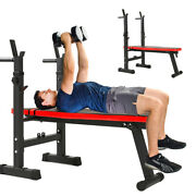 Adjustable Flat Weight Lifting Bench Body Workout Benches Home Gym Fitness Us