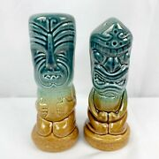 Tonga Hut Palm Springs Salt And Pepper Shaker Set Tropical Tiki Ombre Bauer Pair