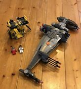 Lego 6208 Star Wars B Wing Fighter +2 Figures Used With Instruction