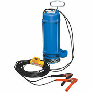 Portapump 12v Submersible Water Pump- 2,580 Gph 1/3 Hp 1 1/2in Ports