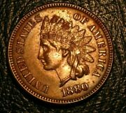 Old Us Coins 1880 Indian Head Cent Penny Full Liberty Beauty