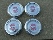 Set Of 4 Chevy Center Cap Hubs Bel Air Vintage Impala 1950and039s 1950 Hubcap Usa