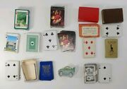 Playing Cards Lot 7 Vtg Decks Business Advertising Illinois Ireland Snap On