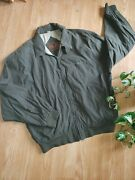 Men's Budweiser Beer Jacket Large Army Green Full Zip Pockets Casual