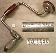 Defiance By Stanley No 1250 10 Inch Sweep Brace Working Old Tool Read