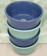 Fiestaware Gusto Bowl 2 Turquoise And 2 Lapis 28 Oz I've Got The Blues