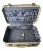 Travel Case Vintage 1950s Starline Lady Baltimore Luggage Ivory Suitcase 18 X 11