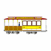 Bachmann Industries Ho Cable Car Yellow And Red