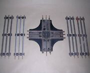 4 Vintage Lionel Straight Train Tracks 027 And Mar Toys Marlines Crossing Track