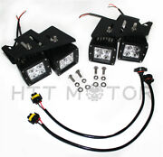 Hongk- 80w Cree Led Pods W/ Foglight Location Bracket/wirings For 07-14 Chevy Si