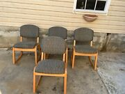 Four Very Rare Mid Century Modern Rocking Chairs And Chair