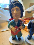 Rolling Stones Bobbleheads 2002 Set Of 4 Mick Keith Charlie Ronnie Bobble Dobble