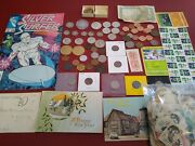 Estate Coin Collectionecc104old Silver, Proof Coins, Rare Stamps, Medals