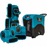 Xpower 5pc Water Contractor Pack 4 Air Movers And Commercial Lgr Dehumidifier