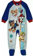 Paw Patrol Boyand039s Size 2t Blanket Sleeper Footed Pajamas Flannel New With Tags
