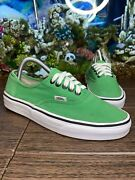 7 Mens Off The Wall Tc9r Canvas Lace Up Low Top Green Sneaker Shoes Size