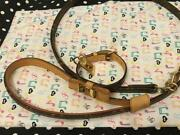 Louis Vuitton Pet Lead Collar Brown Less Baxter Mm Monogram Small Dogs Gold