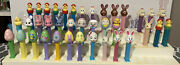 Large Lot Of Easter Pez. 38 Unique Dispensers. 3.9s And Lots Of Variations.