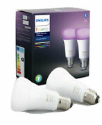 Philips Hue Pack De 2 Ampoules Led Connectandeacutees White And Color Ambiance E27 Neuf