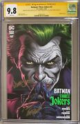 Batman Three Jokers 2 Main Cover Cgc Ss 9.8 Signed Johns Fabok And Anderson