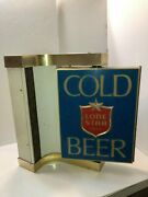 Vintage Lone Star Beer Lighted Rotating Sign