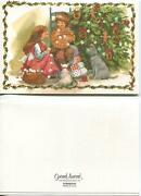 Vintage Smorkager Butter Cookies Recipe 1 Christmas Tree Cocoa Dog Art Snow Card