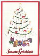 Vintage Christmas White Tree Jack In Box And Christmas Snow Child Squirrel Card