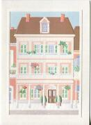 Vintage Victorian French Colonial House Architecture Deeply Embossed Card Print
