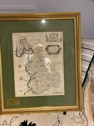 Antique Map Lancashire / Lancaster By Richard Blome 1673 From Private Collection