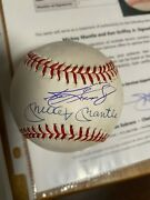 Ken Griffey Jr Mickey Mantle Signed Autographed Baseball Mariners Yankees Becket