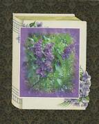 Old Fashioned Purple Lilac Garden Flowers Collage Artisan Print Antique Paper
