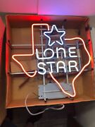 Vintage Lone Star Beer Texas Shaped Neon Sign