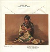 Vintage Christmas Native American Indian Mother And Child Vel Miller Greeting Card