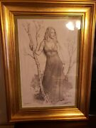 Original Larry Elmore Drawing - Laurana Dragonlance - Dungeons And Dragons
