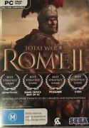 Total War Rome 2 Pc Dvd Cd Rom Strategy Rare Free Postage