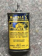 Marbles Nitro Solvent Bottle Oil 3oz Antique Rare Camp Gladstone Arms Can 13