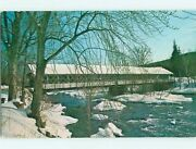 Unused Pre-1980 Covered Bridge On Ashuelot River Winchester - Hinsdale Nh T7522