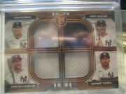 New York Yankees 2021 Topps Mus Coll 4 Player Primary Pieces Quad Relic Copper