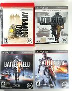 Playstation 3 Ps3 Battlefield Lot Bad Company 1 And 2 Battlefield 3 And 4 Vg
