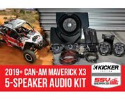 Ssv Works X32-5k 5-speaker Plug-and-play System For 2019+ Can-am X3