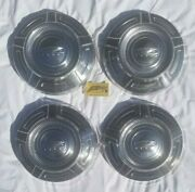 4 Ford Truck Poverty Dog Dish Hubcaps 1967-1976 12 3/4 1ton F250 Camper Special