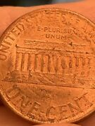 Rare Capped Die Error 2000 Lincoln Cent Penny Very Rare Multiple Strike On Obv