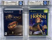 2 Sealed Lord Of The Rings 9.8 A+ Fellowship Ps2 And 9.6 B+ The Hobbit Xbox